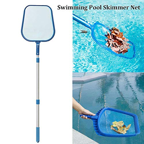 Outgeek Pool Net Leaf Skimmer Swimming Pool Leaf Net Pool Cleaning Tool with Pole