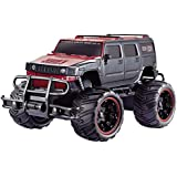 The Flyers Bay Big And Mean Rock Crawling 1:16 Scale Modified Hummer RC Car/Monster Truck, Red/Black