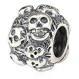 Halloween Vacances Tête de mort Charm argent sterling 925Perles pour bracelet Chaîne serpent européen