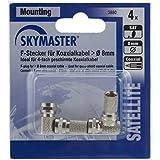Skymaster FS Fiche F Diamètre 8mm, lot de 4Noir