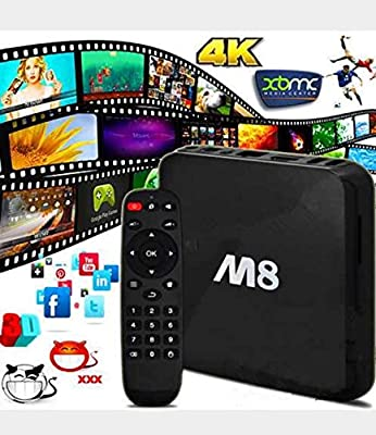 M8 Android QUAD CORE 2gb Amlogic S802 Smart TV Streaming Box, Fully Loaded Jailbroken with XBMC streaming(Kodi) addons,Showbox,Netflix XBMC for FREE Sports, Movies Kids,Sky Sports with UK Charger
