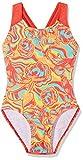Speedo Mädchen colourmelt Allover Splashback Badeanzug, Mehrfarbig (Watermelon/Fluo Orange/Spearmint), DE: 152 (Herstellergröße: 30''/11-12 Jahre)