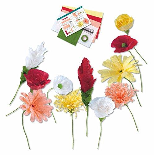 Papierblüten set aus Floristenkrepp 21 Teile