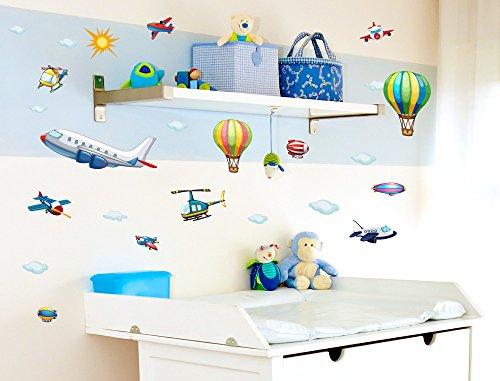 "Preisvergleich Produktbild I-love-Wandtattoo WAS-10010 Wandsticker Kinderzimmer ""Flugzeuge"" Wandtattoo Wandaufkleber Sticker Aufkleber"