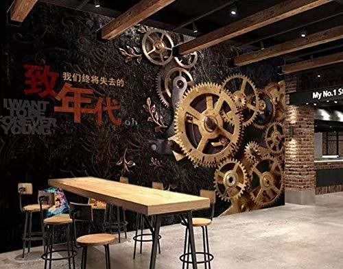 YiShuQiang Wallpaper Fototapeten Industrielle Gangthema-Restauranthintergrundwand Tapetens Wandbilder Wohnzimmer Schlafzimmer Büro Flur Dekoration Fototapetens,500 * 320cm(WXH)