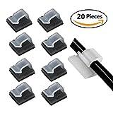 kabel halterung 5mm (Weiß 20-Stück), Eiito FC-5 Kabelbefestigung Drahthalter Kabelschellen Kabelklemme kabel am schreibtisch