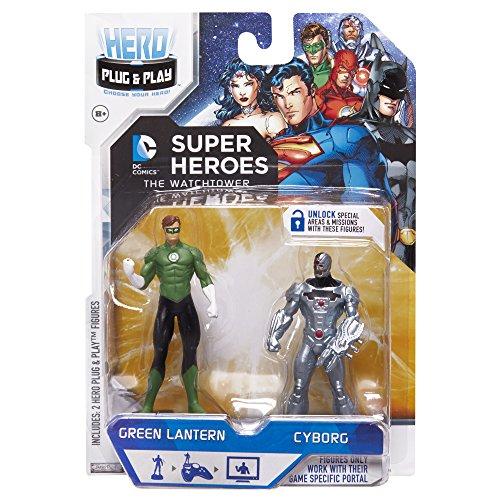 Hero Portal DC Booster Pack Linterna y Cyborg Juego (Verde)