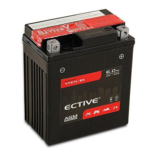 ECTIVE 12V 6Ah AGM Motorradbatterie YTX7L-BS : 4Ah - 18Ah inkl. Säurepack (absolut wartungsfrei)