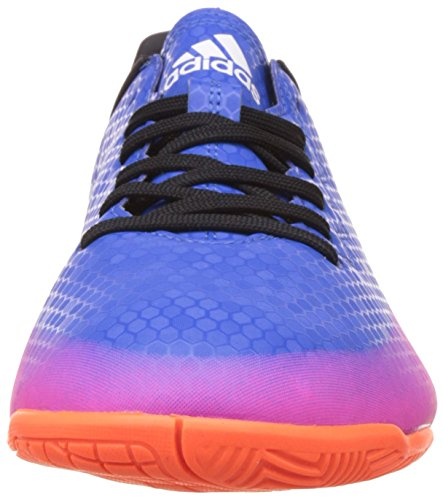 adidas Messi 16.4 Indoor, Scarpe da Calcio Uomo Blu (Blue/footwear White/solar Orange)
