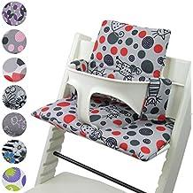 BambiniWelt Cojín de asiento para trona Stokke Tripp Trapp, en 20colores, asiento de 2piezas, funda de respuesto