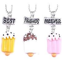 Lovelegis Tre Collane da Bambina - Amicizia - Best Friends Forever - Migliori Amiche per Sempre per 3 - Kawaii X 3 - BFF…