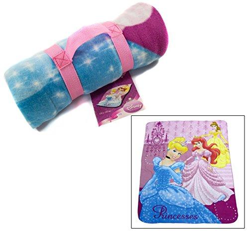 Preisvergleich Produktbild Disney Princess Kinder Reisedecke, Bettdecke, Tagesdecke, Fleece 120 x150 cm, Maschinenwäsche
