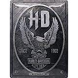 Nostalgic-Art Targa Vintage Harley-Davidson – Metal Eagle – Idea Regalo per Amanti di Moto, in Metallo, Design Retro per Deco