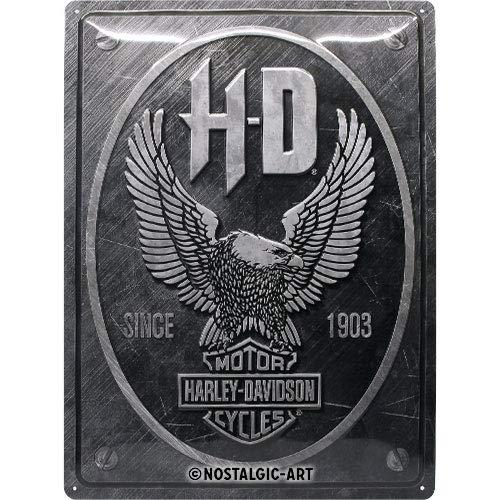 Nostalgic-Art 23267 Harley-Davidson-Metal Eagle, Retro Blechschild 30x40 cm, Metall, bunt, 30x 40 cm
