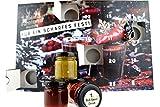 Chili Adventskalender mit 24 Produkten I von mild bis höllisch I Geschenk für Advent und Weihnachten l Geschenk für Männer l Version mit Türchen I 720g