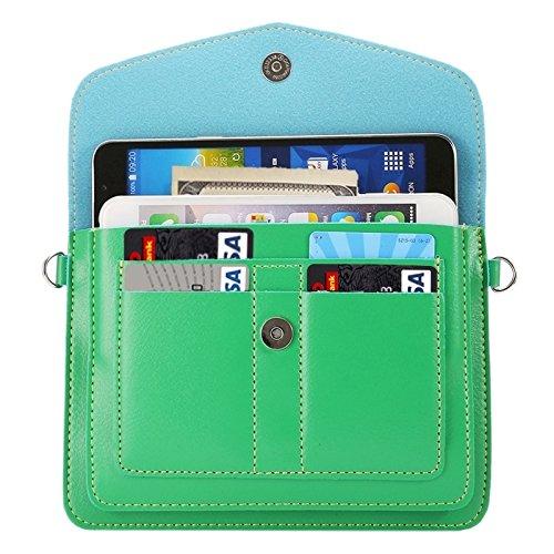 Wkae Case Cover 6,3 zentimeter universal modischen vertikale vier schichten multi - funktions - leder - umhängetasche mit card slots für das iphone 6 plus &65 plus, samsung galaxy 7 rand &anmerkung 5  grün
