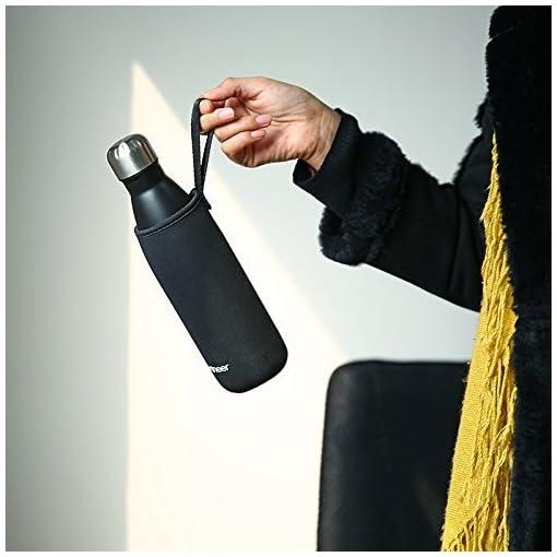Sportneer® Bottiglia Acqua in Acciaio Inox, Portatile Borraccia Termica 500ml/750ml, Doppia Parete in Acciaio Inox coibentato Bottiglia di Acqua, Bottiglia Sportive Thermos, Facile da Pulire