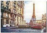 Panorama Poster Rues de Paris Tour Eiffel 30 x 21 cm - Imprimée sur Poster de Grande qualité - Poster Ville - Poster Moderne pour la Maison - Décoration Murale Vintage - Tableau de Photos
