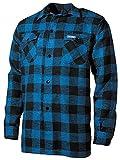 Holzfällerhemd, blau/schwarz, kariert Größe: XXL