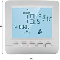 LEDLUX LL0250 Termostato Digitale Con Tasti Programmabile Per Caldaia A Gas Murale Da Parete Alimentato Con 2 Pile AA…