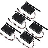 KEESIN AAA 6V Batteriehalter Fall Kunststoff Akku Aufbewahrungsbox mit EIN / AUS Schalter und Befestigung Kabelbinder (3 Solts * 5 Stück)