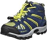 Columbia Jungen Trailrunning-Schuhe, Wasserdicht, CHILDRENS NORTH PLAINS MID, Blau (Cool Moss, Zour), Größe: 26