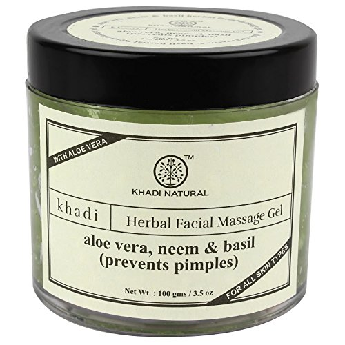 Khadi Aloevera, Neem and Basil Face Massage Gel, 100g