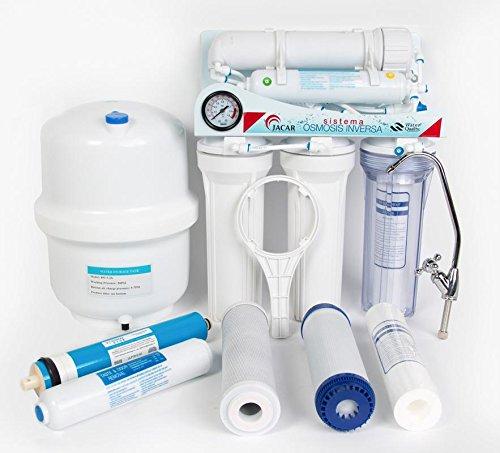 Jacar - Equipo de osmosis inversa de 5 etapas con grifo