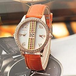 New Hot Ladies Brand Wristwatch Double Dial double movement quartz watch, Women Dress Watches Leather clock