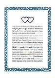 Geschenk Geburt Zwillinge - Personalisiertes Bild mit Rahmen für Babies und Neugeborene - Geschenkidee z.B. als Gastgeschenk zur Geburt - Variante für 2 Jungs, Kunstdruck, DIN A4