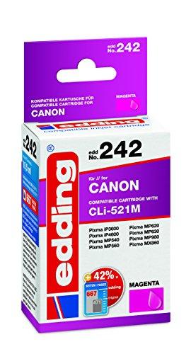 edding Tintenpatrone EDD-242 ersetzt Canon CLI-521M - Magenta - 10,5ml