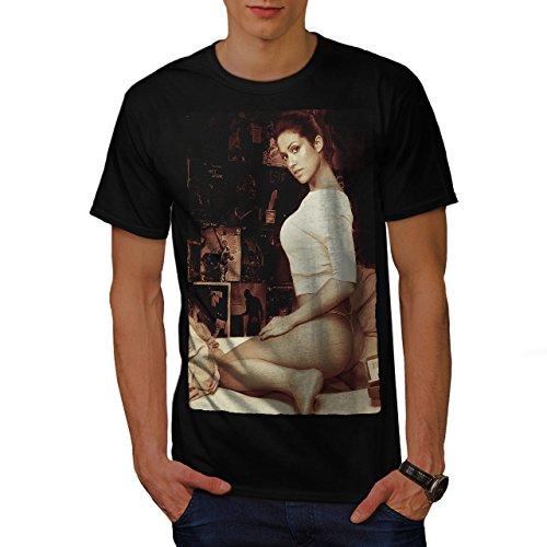 wellcoda Mädchen Erotisch Schuss Sexy Männer T-Shirt, jung Grafikdesign gedruckt Tee
