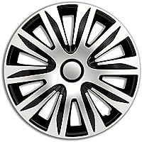 4pc Enjoliveurs de roues Nardo Argent & Noir 15 pouces