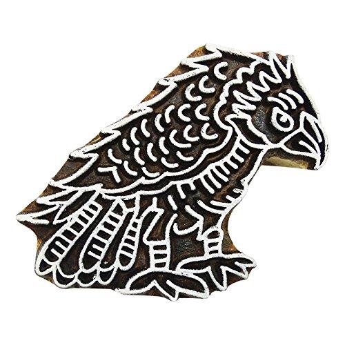 PEEGLI Indische Dekorative Sammelalbum Blöcke Eagle Entwurf Hand Geschnitzte Druck Blöcke Aus Holz Textil Stempel Auf Stoff (Hand Geschnitzt Adler)