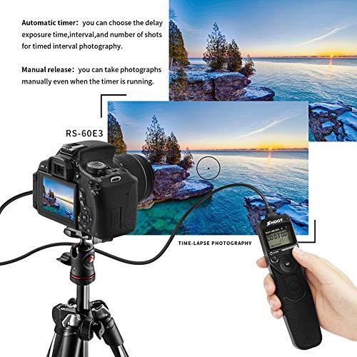 happyhouse009 Kamera-Zeitschaltuhr Fernauslöser für Canon 650D 600D 700D 750D 1100D Schwarz Pentax Canon Digital Rebel