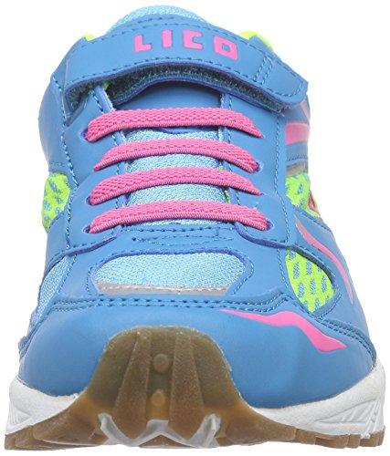 Lico Bob Vs, Chaussures de Fitness Fille, Türkis (Tuerkis/Pink/Lemon) Turquoise (tuerkis/lemon/pink)