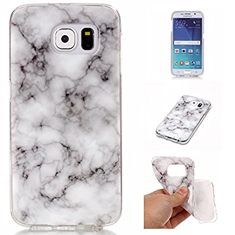 BONROY® Samsung Galaxy S6 G920(2015 Version) Coque Housse Etui,Fashion Belle Série Marbling Ultra-Mince Thin Soft Silicone Etui de Protection pour Souple Gel TPU Bumper Poussiere Resistance Anti-Scratch Case Cover Couverture Pour Samsung Galaxy S6 G920(2015 Version)