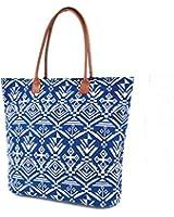 Womens/Ladies Woven Aztec Pattern Handbag