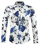 APTRO Chemise Coton Fleurs Fashion Or...