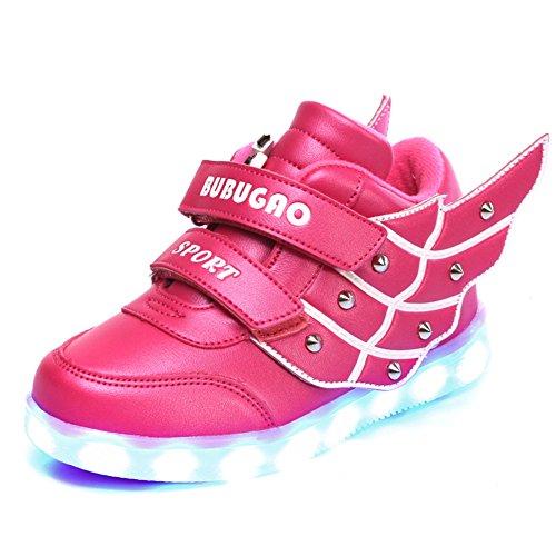 GreatParagon Paragon Unisex Jungen Mädchen LED Leuchtende Schuhe Turnschuhe USB Lade Flashing Schuhe Kinder Sportschuhe - Gesichts-licht-schalter