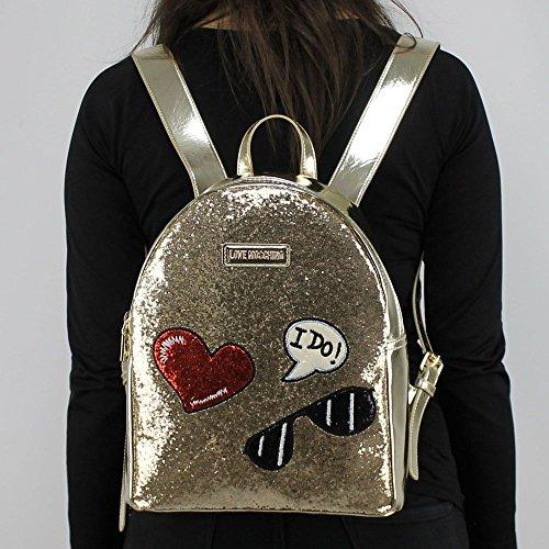Love Moschino Rucksack GLITTERS Damen Op.Classic Tundra - JC4149PP15LL0901 - Null Glitter