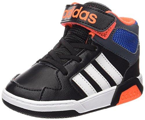 Adidas-Scarpe BB9TIS INF primi passi, Unisex bambino, Multicolore (Negbas / Ftwbla / Plomo), 23