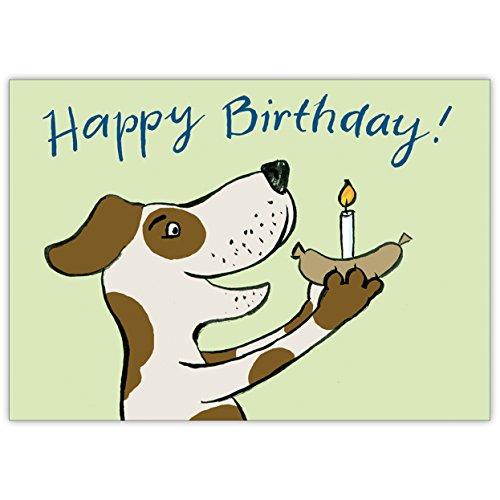 Süße Geburtstagskarte für Hunde Liebhaber mit Hund: Happy Birthday! (Geburtstagskarte Mit Hund)