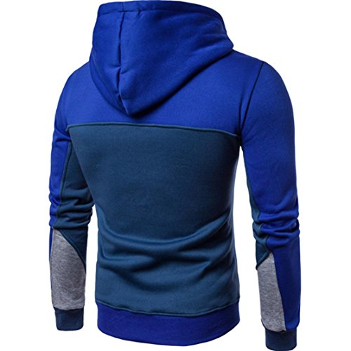 Bluestercool Felpa Uomo Cappuccio Invernale Elegante Pullover Cotone Blu