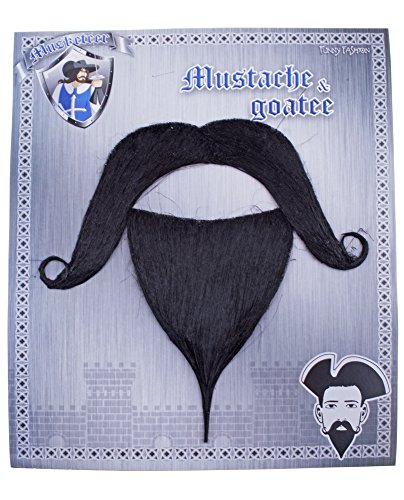 Musketier Bart Selbstklebend zum Kostüm für Erwachsene