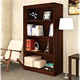 BLUEWUD Alex Wall Book Shelf/Home Decor Display & Storage Rack Cabinet Unit(SB-AXA-W4, Wenge)