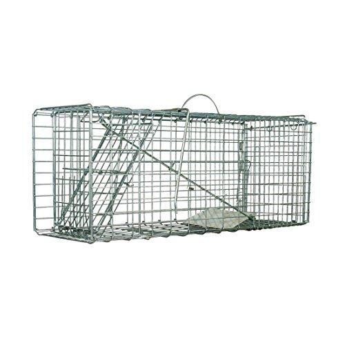 Defenders Tierfalle Großer Käfig (Menschliche Falle, Für Kaninchen und Katzen, 67.7x 26.7x 29.1 cm)