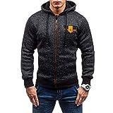 Homme Veste, Manadlian Chemisier Jacket de Sport à Capuche Sweats à Capuche Zipper...
