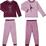 Kinderbutt Schlafanzug 2er-Pack Frottee beere Größe 122 / 128