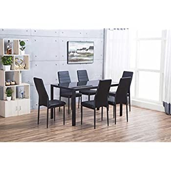 Luxury Black Dining Set